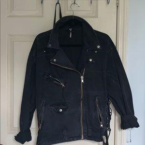 Free People Oversized Denim Moro Jacket